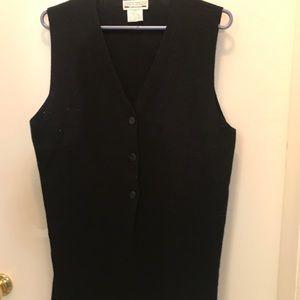 Knit hip length vest